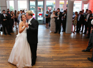 An image of a happy couple getting married at 409 South Main.