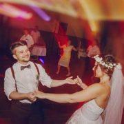 Wedding couple dancing.