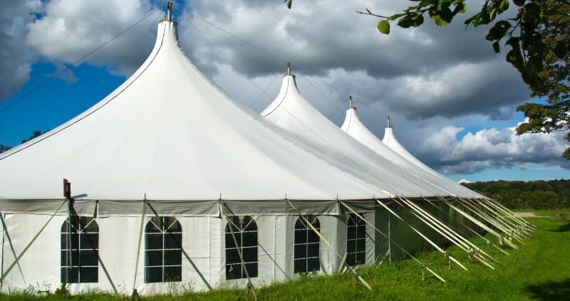 Window-style tent sidewalls and peaked roofs offer a unique setting for this event.