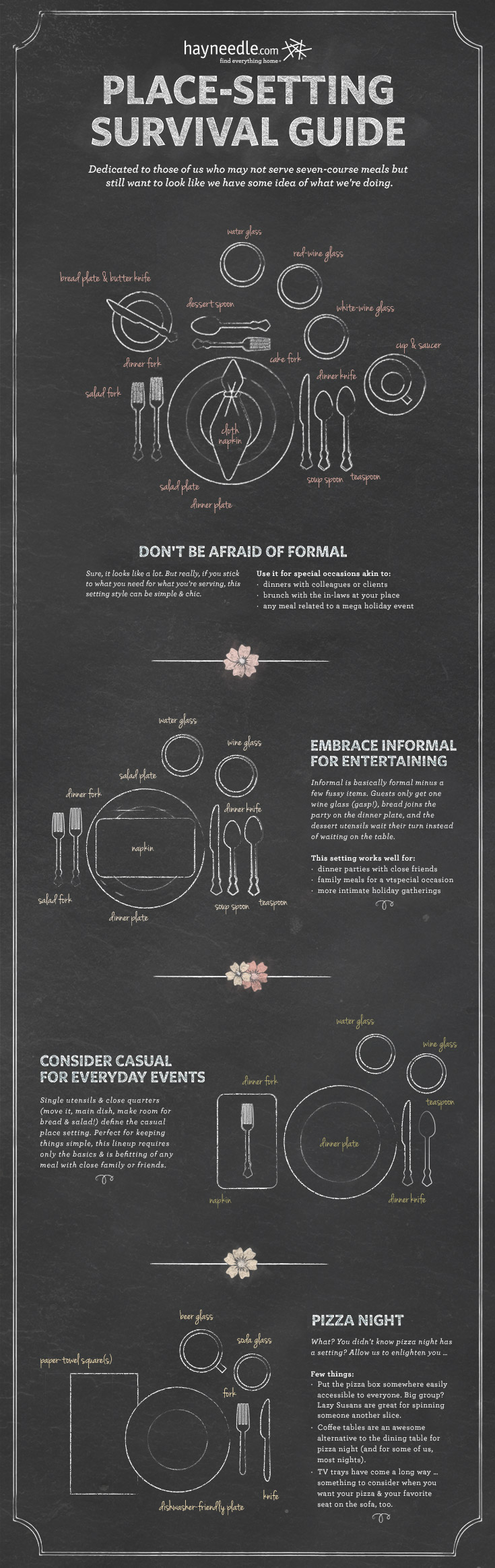 Formal and Informal Place Settings for the Holidays