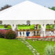 Round, Open Tent with Wedding Ceremony Seating