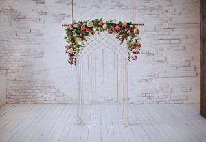 floral wedding canopy